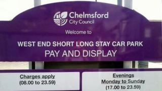 Long short stay car park in Chelmsford