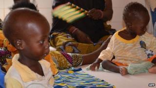Women and children in Tillaberi, western Niger, on 14 October 2013