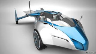 Studio shot of the Aeromobil