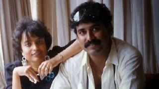 Dr Kunal Saha with his wife Anuradha