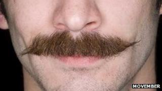 A man's moustache