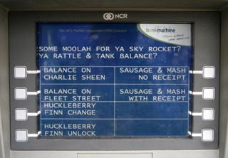 atm with cockney slang
