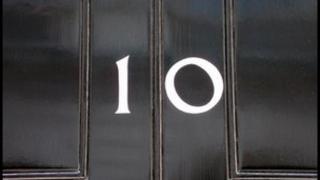 10 Downing St door