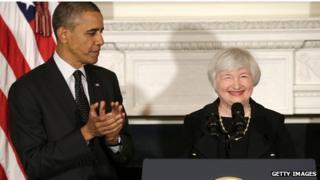 Barack Obama and Janet Yellen