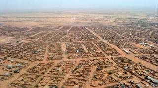 A photo taken on 30 May, 2012 shows an aerial view of the city of Agadez in Niger.