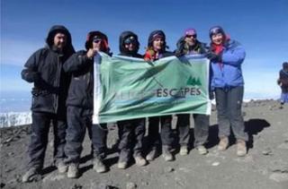 The Alice's Escapes team on Kilimanjaro
