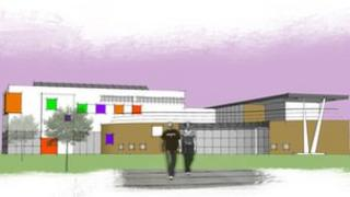 Artist's impression of the planned new hospital entrance