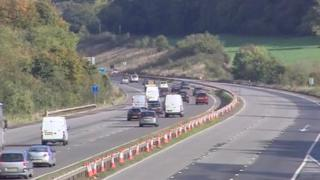 M5 motorway closed