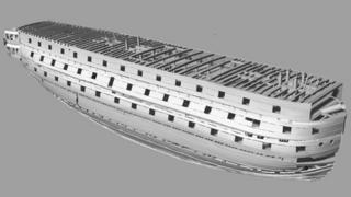 3D laser image of HMS Victory