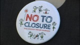St Andrew's Primary School 'No To Closure' badge