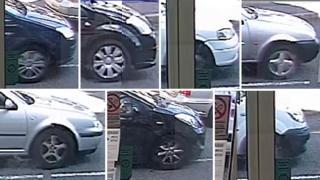 Cars captured on CCTV