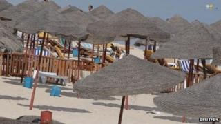A beach in Sousse, Tunisia