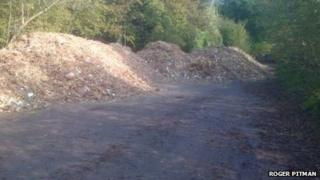 Picture of the dumped wood chip