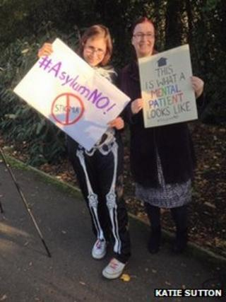 Protesters at Thorpe Park