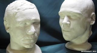 The life and death masks of Burke and Hare