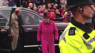 The Queen and Duke of Edinburgh in Newhaven