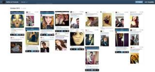 A screenshot of the Tumblr page Selfies at Funerals