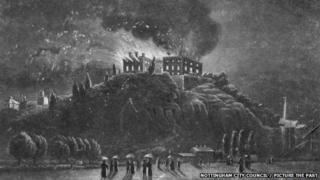 Nottingham Castle 1831