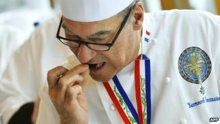Bernard Vaussion tasting dishes