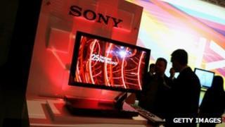 Sony TV on display