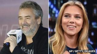 Luc Besson and Scarlett Johansson