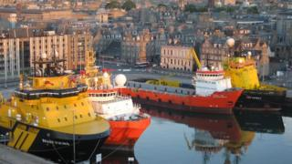 Aberdeen is a very busy harbour