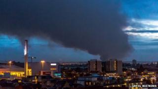 Scrapyard fire in Dagenham