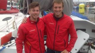 Ned Collier Wakefield (l) and Sam Goodchild