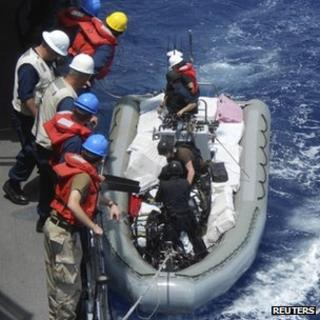 US seizes cocaine in the Caribbean, May 2013