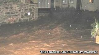 Lostwithiel flooding - Pic: Tori Gabriel and Shammy Warwas