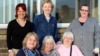 Lesley Lomas with Maxine Peake