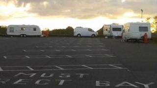 Caravans on Cheslyn High school
