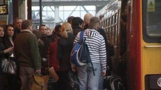 Passengers at Lincoln Station