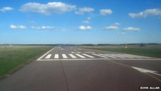 Inverness Airport runway