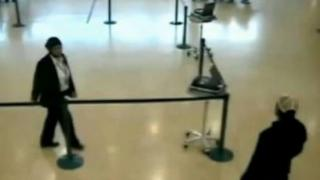 Security checks at the airport