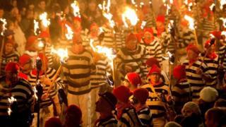 Lewes bonfire parade 2013