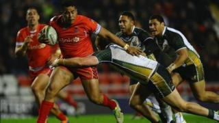 Tonga v Cook Islands at Leigh, Greater Manchester