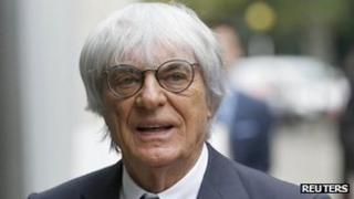 Bernie Ecclestone arriving at the High Court in London