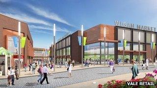 Wigan town centre development