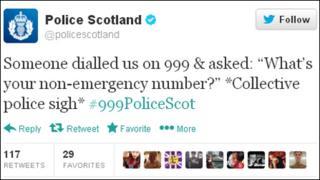 Police Scotland tweet