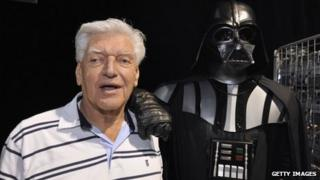Dave Prowse with Darth Vader