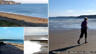 Beaches at Bridlington, Hornsea, Sandsend and Scarborough