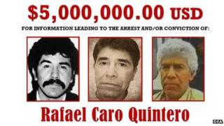 Reward offer for Rafael Caro Quintero