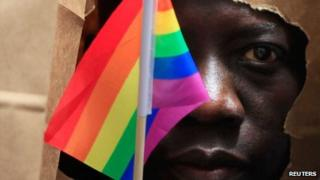African gay rights campaigner in US, 8 Jun 13