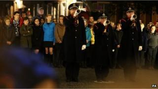Buglers at Menin Gate ceremony