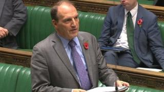 Simon Hughes address the Commons