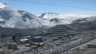 The high-altitude Kumtor gold mine in Kyrgyzstan