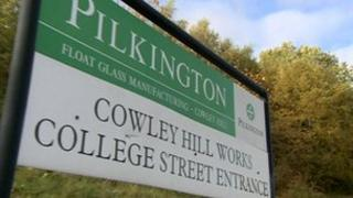 Pilkington factory sign