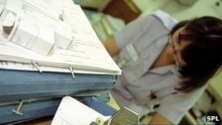 nurse in a ward