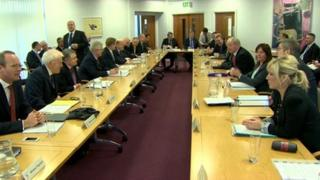 Ministers are holding round-table talks in Armagh